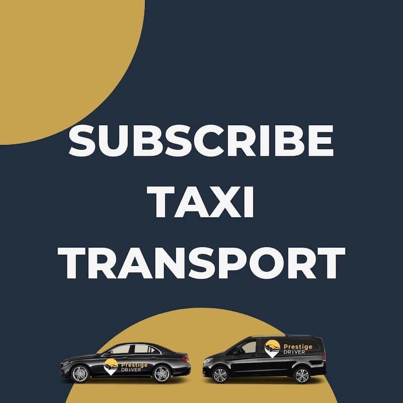 Taxi avec abonnement